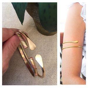 Two Brass & Copper Arm Bands Arm Bracelets